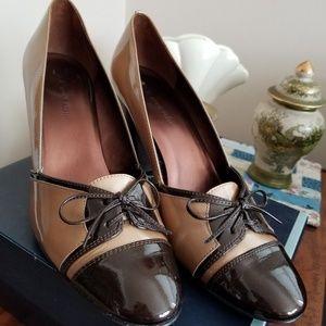 Anne Klein AK Brown Patent Heels